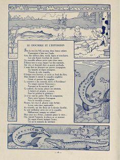 Fables de Florian illustrees par Benjamin Rabier, 1936 (Le Crocodile et L'Esturgeon) by peacay, via Flickr