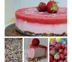 Aardbeien cheese cake (ijstaart) || zonder melk en eieren