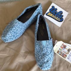HP! Toms Snow Leopard vegan classics.  Size 6.5 Host Pic: NWT! Size 6.5 Blue Snow Leopard vegan classics. Very Rare and sold out on Toms and other sites!   These are hard to find print and brand new with tags! (no box).  Breathable construction and vegan friendly using no animal products. TOMS Shoes Flats & Loafers