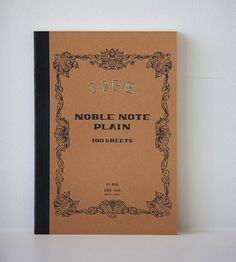 Life Stationery Noble Note | Medium | Plain