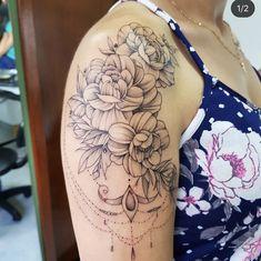 ❤️ Tattoos, Flowers, Tatuajes, Tattoo, Tattoo Illustration, Irezumi, A Tattoo, Flesh Tattoo