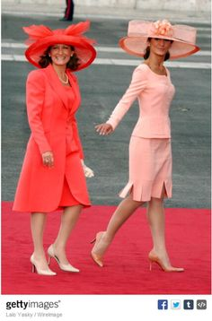 Paloma Rocasolano and Telma Ortiz Rocasolano, May 22, 2004 | Royal Hats