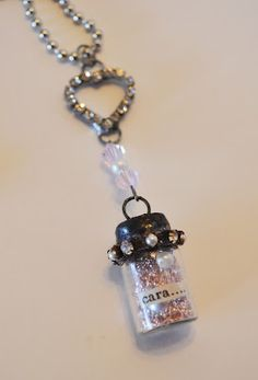 message in a bottle necklace :)
