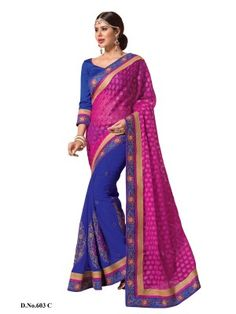 Online shopping Bollywood  designer sarees, Receptions and parties with blouse piece from Latest designer Sarees Collection 2015 at best price from surat, Gujarat's top online shopping and offline retail store.We ship worldwide At Parisworld.in