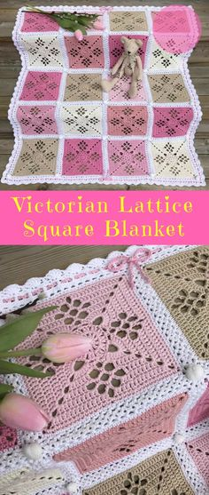 "#VictorianLatticeSquare #FreeCrochetPattern | Crochet → Afghan Block to Blanket Size: 8"" Written US Terms Level: upper beginner yarn: Caron Simply Soft Solids / Aran (8 wpi) Hook: 4.5 mm Author: Destany Wymore"