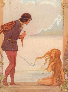 Little Mermaid Legs Prince Fairy Tales c1920 Margaret Tarrant Matted Art Print   eBay
