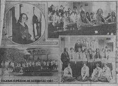 Fotografías de la directora -Auristela Castro- y alumnas del  Colegio Superior de Señoritas, setiembre 1927. Abjo un grupo de último año Fuente Diario de Costa Rica. SINABI