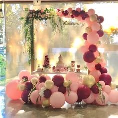 LAttLiv Balloons 70 Pcs Party Balloons Latex Balloons and Confetti Balloons Birthday Balloons Party Decor for Birthday Wedding Graduation Party Christmas Baby Shower - Wine Red & Baby Pink & Gold Image 5 of 6 Balloon Garland, Balloon Decorations, Birthday Decorations, Balloon Backdrop, Balloon Ideas, Birthday Thank You, Baby Birthday, Birthday Parties, Party Decoration
