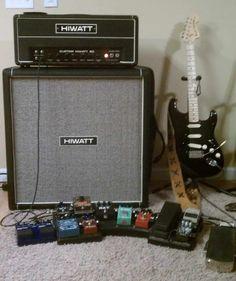 "Darell Stape: 2011 Fender Stratocaster Classic 70's Reissue. Neck re-radiused to 10"" with jumbo frets. Seymour Duncan SSL-5 bridge, CS 69 in middle, CS Fat 50 in neck. Floating trem. Effects (in order of chain): Boss TU-2, Boss GE-7, Skreddy Pig Mine, Crybaby wah, MXR dyna comp script reissue, Ibanez TS808 Tube Screamer, ProCo Rat, MXR 78' distortion, Analogman bi-chorus, EXH vintage script small stone, MXR carbon copy delay, Jam Man phrase sampler, Fender volume pedal. Amp: 1977 Hiwatt…"