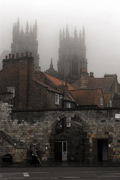 Foggy Day, York, England - been there. I remember many foggy days. Some were so bad that I couldn't see the end of the hood on the car.