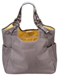 JP Lizzy Slate Citron Satchel - Diaper bag that doesn't look like a diaper bag!