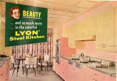 Vintage ad for steel kitchens