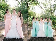 Mint and Blush Tagaytay Wedding Wedding Entourage Gowns, Bride Gowns, Wedding Gowns, Wedding Prep, Wedding Bells, Dream Wedding, Wedding Stuff, Tagaytay Wedding, Wedding Motifs