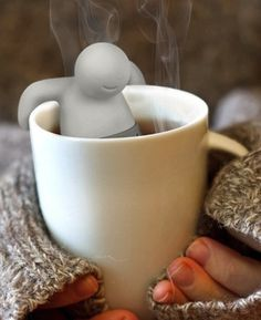Mister Tea Infuser from The Gadget Flow. Saved to Awesome Gadgets. Shop more products from The Gadget Flow on Wanelo. Tea Strainer, Tea Infuser, Relaxing Tea, Loose Leaf Tea, Herbal Tea, Cool Stuff, Random Stuff, Cool Gadgets, Decorating Kitchen