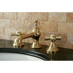 Kingston Brass Millennium Double Handle Widespread Bathroom Faucet with Pop-Up Drain & Reviews | Wayfair