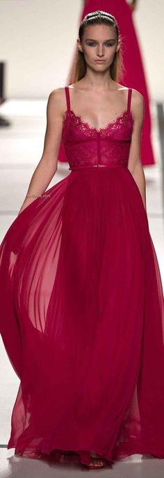 Elie Saab raspberry dress #luxurydotcom