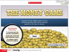 This money-themed interactive glossary game challenges children to match words and phrases to their definitions.