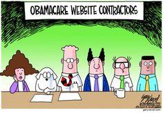 OBAMACARE WEB CONTRACTORS | Oct/25/13 Political Cartoons