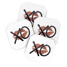 Kent Youngstrom Hugs And Kisses 2 Coaster Set | DENY Designs Home Accessories