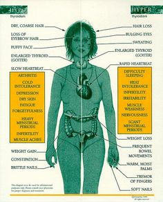 This is what happens with your body when your thyroid produces to much or too litte thyroid hormone