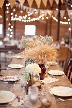 Rustic table setting by Southern Vintage rentals at Vinewood Plantation
