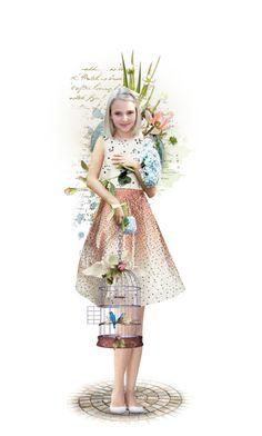 """Sweet Melissa"" by likepolyfashion on Polyvore featuring art, dollset and artset"