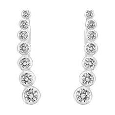 Cubic Zirconia Ear Cuffs - Shop With Bitcoin