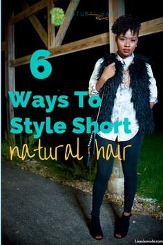 Short hair doesn't have to be limiting. Here's 6 ways to style your short 'fro! (image: lisaalamode)