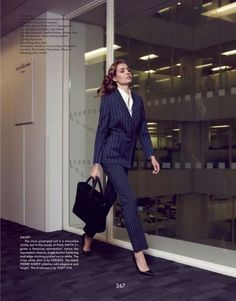 Magazine: The Gentlewoman Spring/Summer 2013 Model: Nadja Bender Photography: Benjamin Alexander Huseby Styling: Jodie Barnes Business Outfits, Business Fashion, Business Women, Preppy Casual, Preppy Outfits, Suits For Women, Clothes For Women, Foto Pose, Work Looks