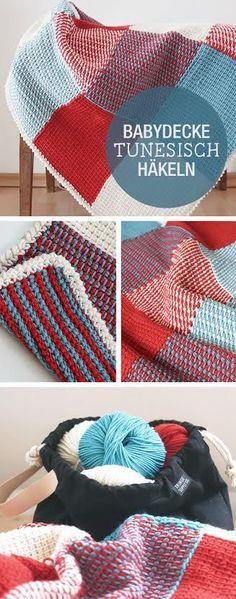 Tutorial: Bunte Granny Square Decke | Pinterest | Häkeln blog ...