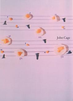 Fotografía conceptual. Aplicación de la estética del músico John Cage a un huevo duro.