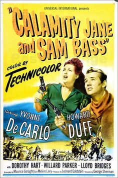 1949 movie posters Belgian | Kunstposter CALAMITY JANE AND SAM BASS, from left: Yvonne De Carlo ...