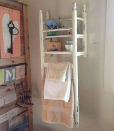 Neat storage with old chair