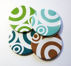 Coasters, Wine Coasters, Drink Coasters, Tableware, Housewarming Gift, Hostess Gift, Abstract Design, Abstract Coasters, Tableware (5018)