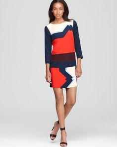 Tibi Printed Dress - Lola Color Block