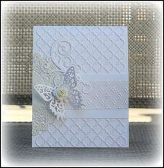 stunning white on white card