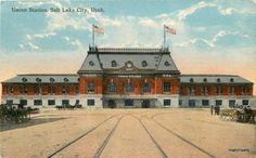 Circa 1910 Railroad Union Station Salt Lake City, Utah Postcard 16395