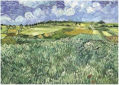 lain Near Auvers ~ Painting, Oil on Canvas  Auvers-sur-Oise: July, 1890  Neue Pinakothek  Munich, Germany, Europe  F: 782, JH: 2099