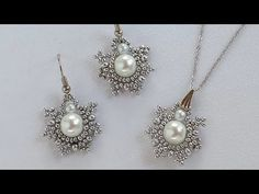 İnci Boncuk kolye,küpe Seti Yapımı / Pearl Bead Necklace , Earring set making - YouTube