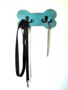 Dog leash Holder, Wood leash holder, Dog leash hook, distressed turquoise, pet lovers gift on Etsy, $18.00