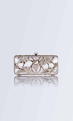 Yolan Cris, vintage style wedding clutch, platinum clutch, diamond clutch