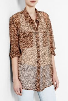 Blush Leopard Print Chiffon Signature Shirt by Equipment    Sharon... If you find this at TJMax... Let me know... Lol