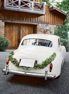Jose Villa, Marilyn and Spencer Napa Wedding Wedding Car Decorations, Wedding Cars, Wedding Songs, Wedding Bells, Wedding Centerpieces, Wedding Stuff, Bridal Car, Spencer, Martha Stewart Weddings