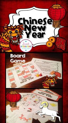 UPDATED FOR 2016 Chinese New Year; Slideshow, gameboard, mini-book ...