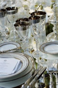 silver drinkware accents