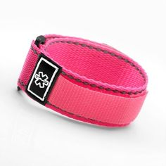 Neon Pink Medical ID Sport Strap Fits 4 1/2 - 5 1/2 Inch * Check out this great product.