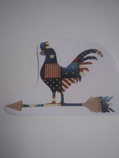 Chicken Decal, Flag Pattern Decal, American Flag Chicken Decal, Chicken Farm Decal by Adsforyou on Etsy Guns And Roses, Window Decals, American Flag, Lettering, Chicken, Handmade Gifts, Pattern, Etsy, Vintage