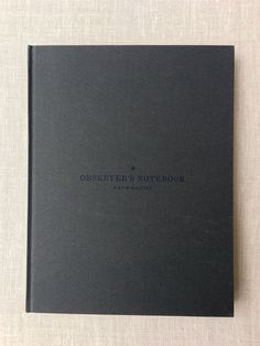 Observer's Notebook<br/>Astronomy