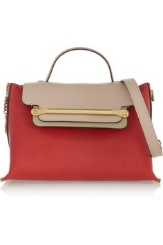 Chloé / Clare shoulder bag in plaid red