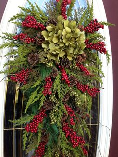Christmas Wreath Winter Wreath Holiday by AnExtraordinaryGift, $80.00